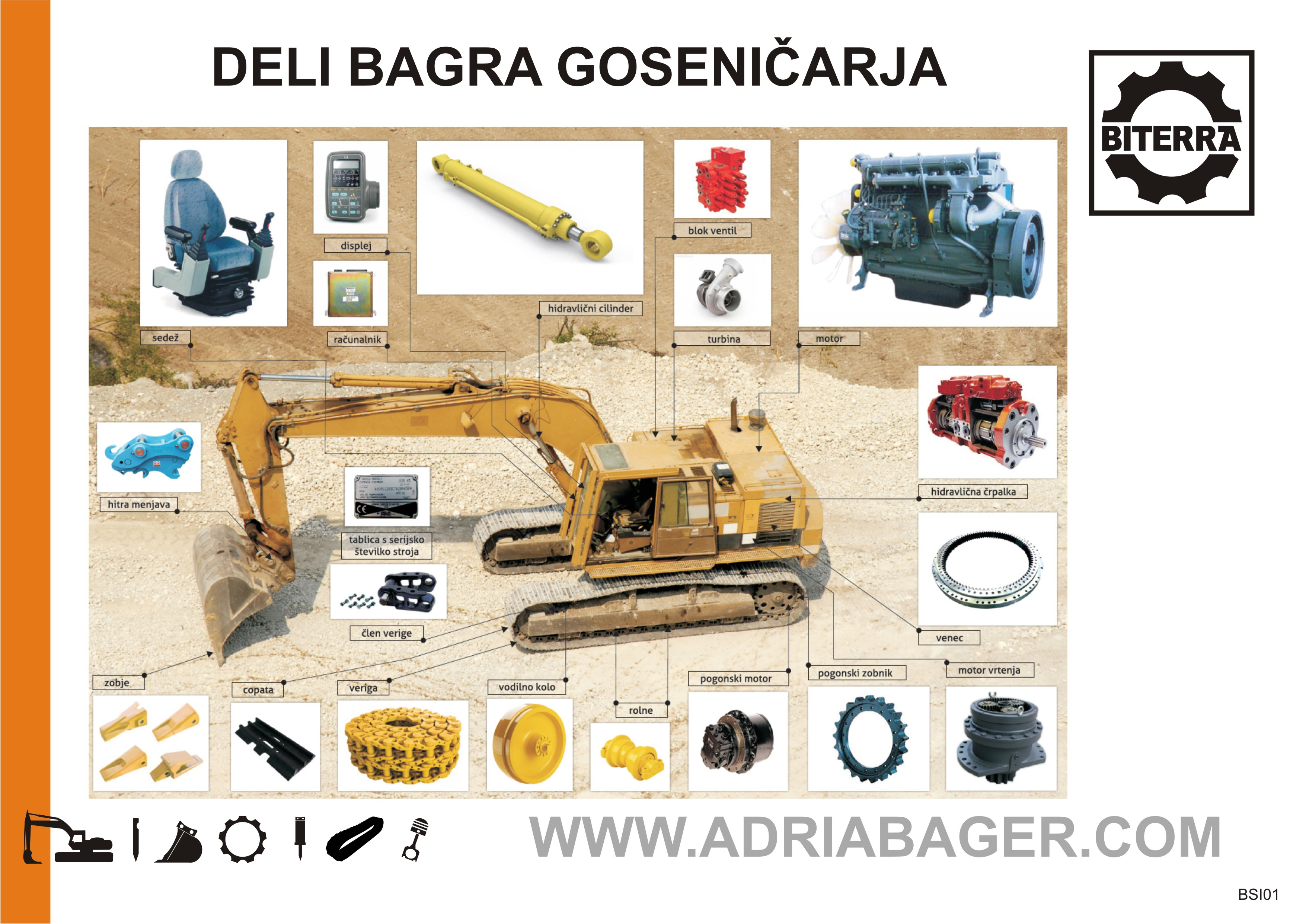 Spare parts for construction machinery – Adriabager – parts and